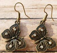 4 Butterfly themed Pairs of Earrings