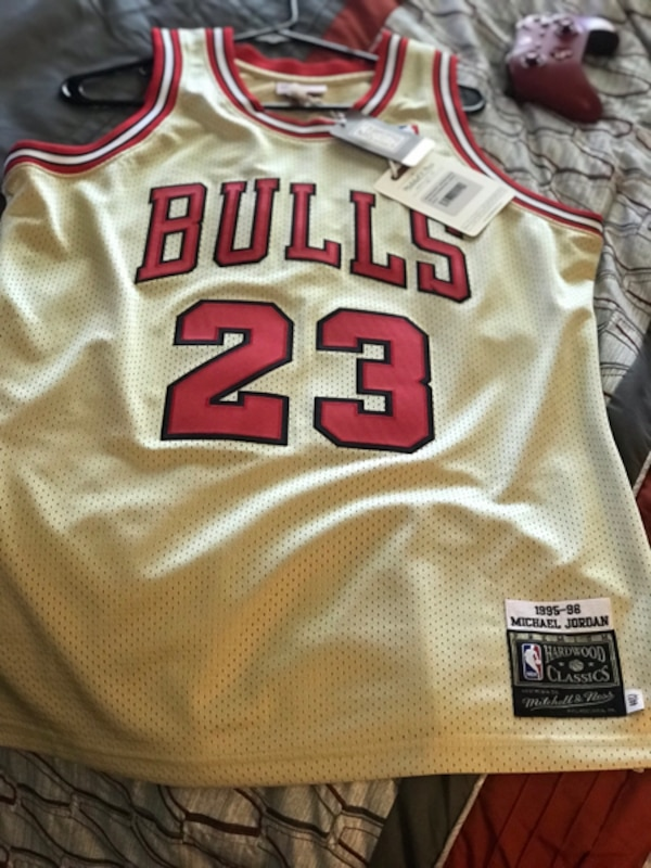 lowest price 99f7a b8493 Authentic Mitchell & Ness Premium Hardwood Classic Jersey