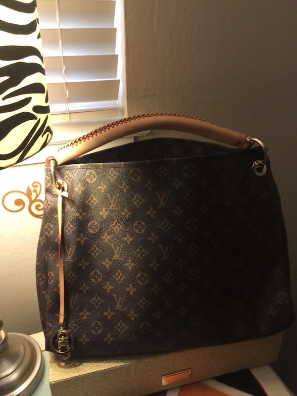 28f8eb191fc0 Used black and brown Louis Vuitton monogram leather tote bag for sale in Redwood  City - letgo