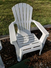 white wooden adirondack chair with white wooden chair Clinton, 20735