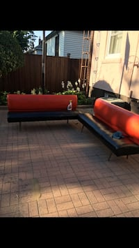 red and black fabric sectional sofa Toronto, M9A 0C9
