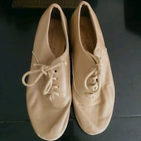 Preworn 1M girls ANGELO LUZIO Beige Tap Shoes Edmonton, T6X 1J9