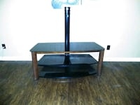 black glass-top TV stand Whitehouse, 75791