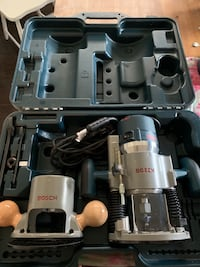 Bosch Variable Speed Plunge Router with Fixed Base / Router Table / Router Guide / Router Bit Sets KATY