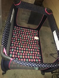 black and white polka dot travel cot Hagerstown