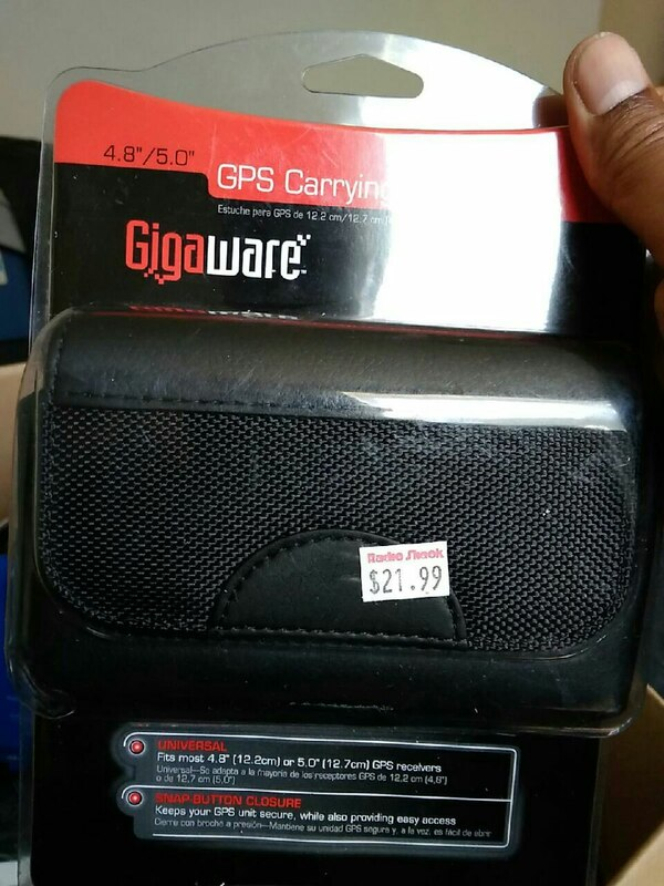 black Giga Ware GPS carrying pouch