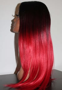 Lace Front Red Black Straight Synthetic Wig Brampton, L6Y 1N7