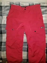 Red Mens Aperture Snowboard Pants Size Med Burnaby, V5A 4G5