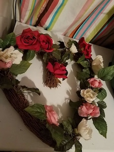 Heart Wreath With Roses