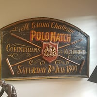 ANTIQUE POLO Match Sign 1899 Durham