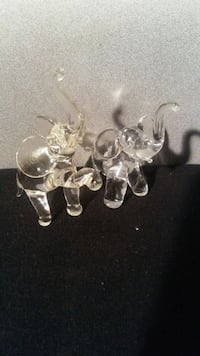 Set of two..Glass Elephants Sparks, 89431