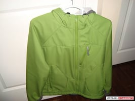 Green zip up jacket