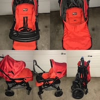 Red and black travel system Vaughan, L4J 5L6