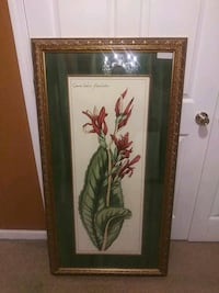 green leaves painting with brown wooden frame Louisville, 40219