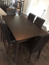 Expresso Brown Dining Room Set with 6 Chairs Aurora, L4G 0J1