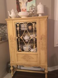 Antique cabinet hand painted and waxed