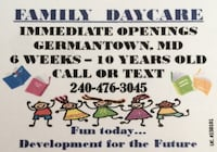 Licensed Daycare Germantown, 20876