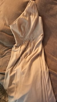 Champagne size 10 bridesmaid dress. Great shape