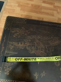 Off white yellow industrial belt Fairfax, 22030