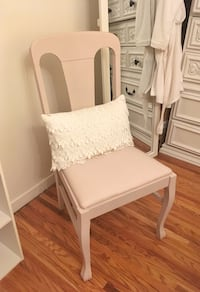 Pink chair and pillow