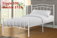 Brand new white metal platform bed frame in single and double warehouse sale  多伦多, M1S 2C1