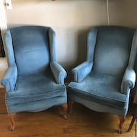 Beautiful Blue Wingback Chair Pair Corpus Christi, 78413