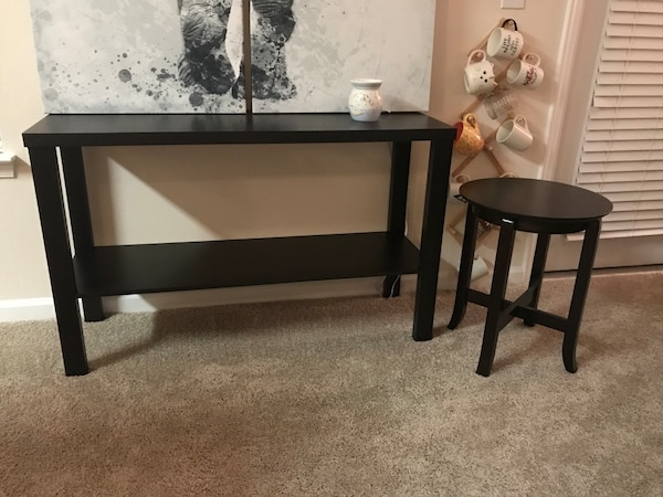 Black end table and accent table