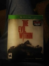 Xbox1 evil within game with fighting chance pack