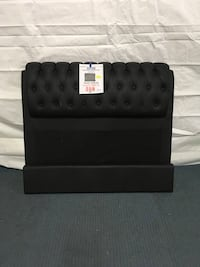 Black Leather Headboard and Footboard  Hopkins, 55343