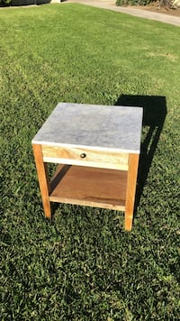 Marble side table Costa Mesa