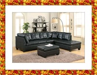Black sectional free ottoman and delivery District Heights, 20747