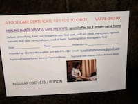 Couples Foot Care Certificate