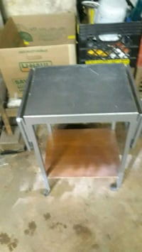 gray metal framed glass top table New Rochelle, 10801