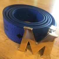 blue leather belt with silver buckle Toronto, M2H 2G6