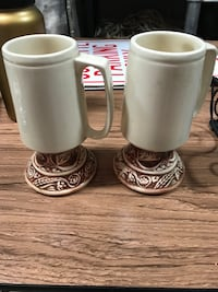 two white ceramic beer steins Vienna, 22182