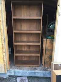 Storage for days!!! It's a steal!! 5 shelf Solid wood bookcase in excellent condition