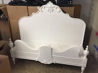 White antique bed shelf