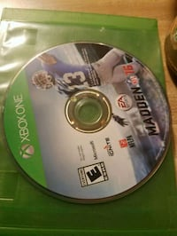 Xbox One Madden NFL 17 disc Spokane, 99204