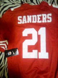 red and white and black NFL jersey Stockton, 95215