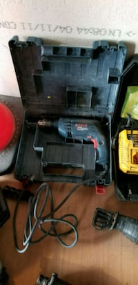 black and red Bosch corded power drill Kitchener, N2G 2M7