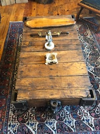 Vintage Industrial Dolly Turned Coffee Table originally $900 New York, 11221