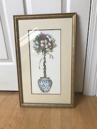 white petaled flower painting with brown wooden frame Bayport, 11705