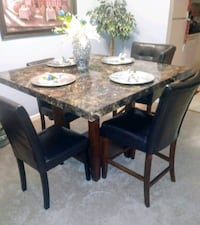 Final Price! Must GoASAP I need the space Bar Height Marble Dining Set Beltsville