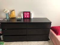 black wooden 6-drawer dresser Silver Spring, 20902