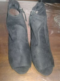 Black suede booties Wichita, 67213