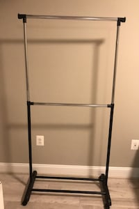Portable and Expandable Garment Rack in Black/Chrome Chantilly, 20152