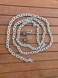 "15 foot 3/8"" chain link with two pad locks Bowie, 20720"
