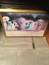 Framed African painting in excellent condition 51 km