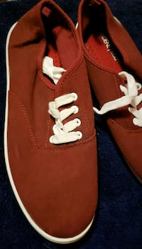 Garnet colored sneakers/boat shoes Albany, 12209