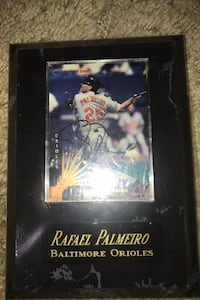 Rafael Palmeiro signed collectible card Silver Spring, 20906